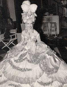 Anita Louise on the set of Marie Antoinette...