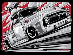 60 Ideas Vintage Truck Art Autos For 2019 Cool Car Drawings, Bmw Classic Cars, Road Rage, Truck Art, Garage Art, Car Illustration, Car Posters, Car Sketch, Vw T1