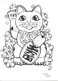 traditional lucky cat tattoo - Google Search