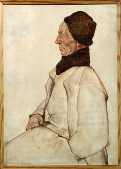 Volendammer visser 'Grote Frerik' 1941 maker: Berg, Willem Hendrik (Willem) van den (1886-1970) #NoordHolland #Volendam