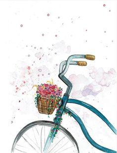 Realistic Flower Drawing, Simple Flower Drawing, Easy Flower Drawings, Beautiful Flower Drawings, Drawing Flowers, Painting Flowers, Bird Paintings, Easy Paintings, Watercolor Wallpaper