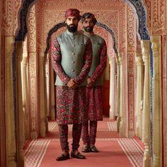 104 best Sabyasachi Sherwani photos by Wedding Dresses Men Indian, Wedding Dress Men, Wedding Outfits, Indian Men Fashion, Ethnic Fashion, Men's Fashion, Wedding Couple Poses, Wedding Couples, Indian Jackets