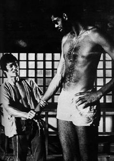 On the set of the game of death. (1972)