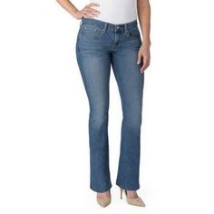 Signature by Levi Strauss ; Co.; Women's Curvy Boot Cut Jeans, Size: 18, Blue