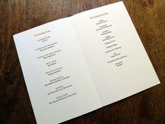 wedding program template leaf frame gold tea length
