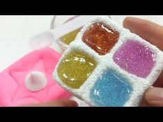 DIY How to Make 'Glitter Colors Slime Foam Clay Case' Learn Colors Slime...