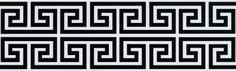 Greca griega: Tipo de decorado floral. Fauna empleada en los bordados decorativos de los chitones griegos.