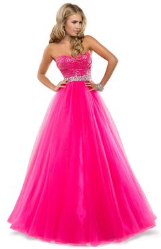 Love this hot pink prom dress! Song Song Costa Flirt Prom by Maggie Sottero Dress Prom Dress 2014, Pageant Dresses, Quinceanera Dresses, Homecoming Dresses, Tulle Ball Gown, Ball Gowns Prom, Pretty Dresses, Beautiful Dresses, Hot Pink Dresses