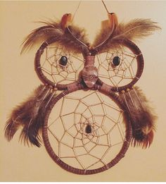 Handmade Dreamcatcher Owl Dreamcatcher Owl Wall by WildDaisyDesign
