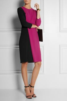 Chalayan Ascension two-tone stretch-crepe dress NET-A-PORTER.COM
