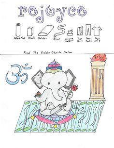 ReJoyce Yoga Cartoon, September 4, 2013, Find the hidden objects: http://rejoyceyogablog.blogspot.com/2013/09/rejoyce-yoga-cartoon-ganeshs-hidden.html