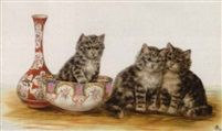 Bessie Bamber (Inglaterra, activa entre 1900 y 1910). Kittens, 1914.