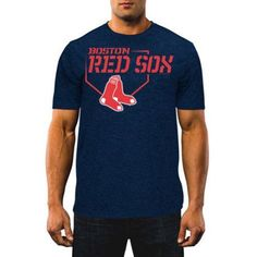 MLB Men's Boston Red Sox Synthetic Tee, Size: XL, Blue
