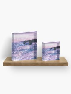 """Sparkly ocean purple aesthetic"" Acrylic Block by ind3finite 