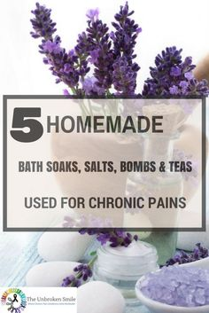 5 Homemade Bath Soaks, Bath Salts, Bath Bombs and Bath Teas Used For Chronic Pains some home made tips that could help you. Chronic Fatigue, Chronic Pain, Chronic Illness, Adrenal Fatigue, Homemade Bath Bombs, Bath Tea, Crps, Bath Soaks, Bath Fizzies