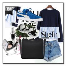 """""""SheIn"""" by rizvic95 ❤ liked on Polyvore featuring Chanel, Levi's, Kate Spade and Puma"""