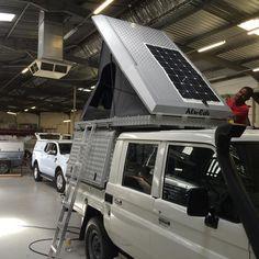 "Gefällt 295 Mal, 6 Kommentare - Alu-Cab (@alucab) auf Instagram: ""#fitting #tents #adding #solar @alucabaustralia"""