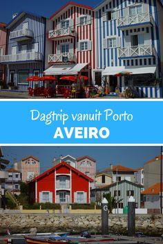 Aveiro, Portugal. Deze kleurrijke strandhuisjes staan langs het strand in Aveiro. Ga dit zeker even zien. Maak bijvoorbeeld een dagtrip vanuit Porto.