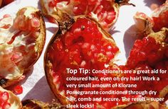 Klorane top tips Pomegranate Extract, Coloured Hair, Dry Hair, Tips, Color, Colored Hair, Colour, Hair Colors, Dyed Hair