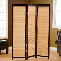Tranquility Wooden Shutter Room Divider - Room Dividers at Hayneedle