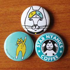猫缶バッジ3個セットCタイプ