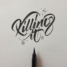 TYxCA: Design in Letters Top Lettering, Calligraphy and ✒️ Typography works. Tag on your next work to get featured! Hand Typography, Hand Lettering Quotes, Types Of Lettering, Graffiti Lettering, Script Lettering, Calligraphy Letters, Typography Quotes, Typography Inspiration, Typography Letters