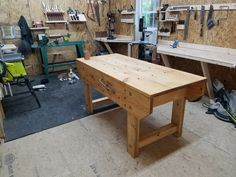 English Workbench with Gramercy holdfast.