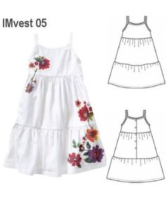 MOLDE: IMvest 05 Kids Pageant Dresses, Baby Girl Dresses, Baby Dress, Girl Dress Patterns, Doll Clothes Patterns, Clothing Patterns, Kids Outfits Girls, Girly Outfits, Kids Dress Clothes