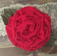 Romantic Red Flower 10$ USD Istagram-Artfabricflowers Youtube Channel-Artfabricflowers by Aleymy