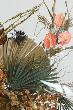 Filled with texture and summery hues today's editorial come all the way from South Africa featuring lush orange tulips dried palm fronds and a delightful take on a tropical flora and fauna at Whispering Thorns in Nelspruit. Tulip Wedding, Winter Wedding Flowers, Summer Wedding, Floral Backdrop, Floral Garland, Carpe Diem, Flora Und Fauna, South African Weddings, Concept Photography
