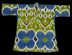 Woman's robe (munisak), Uzbekistan, Samarkand or Fergana valley, second half 19th century. TM 2005.36.114. The Megalli Collection Www.curatedobjecf.us