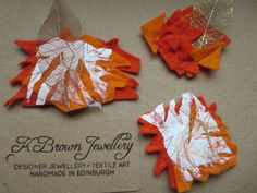 Abstract Orange Felt Brooches Set of Three Abstract Brooches .. 2015 - 2016 http://profotolib.com/picture.php?/41175/category/1702