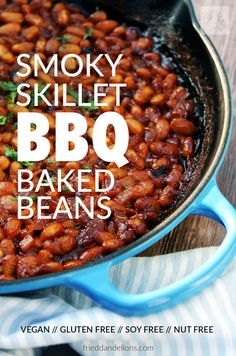 Vegan Baked Beans are a summertime staple!  This delicious side dish is an essential part of every good BBQ! (Recipe from Great Vegan BBQ Without A Grill)