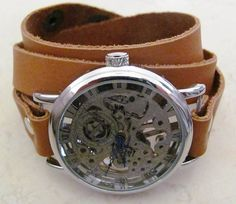 Woman Watch  Mechanical Leather Wrap Watch  FREE by ORLOGIN, $79.00