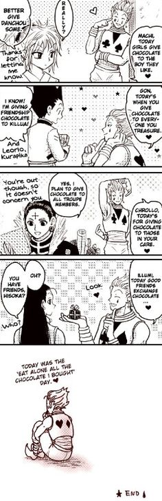 Machi, Gon, Chrollo, Illumi, and Hisoka ~Hunter X Hunter  Ahahahhaha poor Hisoka Dont worry let's exchange then!