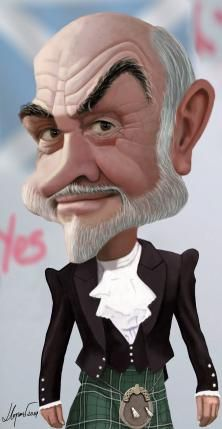 Sean Connery by Eugeni Llopart - CARICATURE: http://dunway.com/