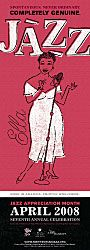 """The National Museum of American History has issued a new 2008 poster to celebrate Jazz Appreciation Month. The poster features Ella Fitzgerald, """"The First Lady of Song,"""" with an illustration by the American artist Jeffrey Fulvimari."""