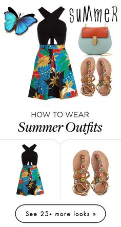 """""""Light Colorful Safari Outfit"""" by laylove41 on Polyvore featuring Alice + Olivia, Laidback London and Chloé"""