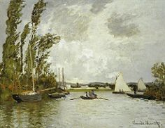 1872 Claude Monet The small branch of the Seine at Argenteuil(Pola Art Museum Japan)(51 x65,5 cm)