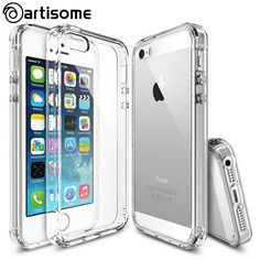 Anti-knock Case For iPhone 5S 5 SE Cover Crystal Clear Acrylic + Silicone TPU Case For iPhone 5 5S SE Phone Cover Coque ARTISOME