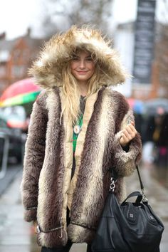 Cold outside? Bring on the fur!