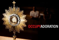 As Catholics we are taught about the Adoration of the Eucharist. During Adoration, the Host is set on the altar and many individuals pray to the Blessed Sacrament. Feast Of Corpus Christi, Holy Hour, Saint Thomas Aquinas, Pope John Paul Ii, The Tabernacle, Catholic Quotes, Catholic Hymns, Catholic Prayers, Jesus Loves You