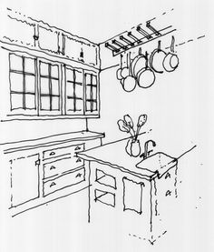 59 best things of the 1910s images old kitchen victorian kitchen 1909 Ford Model T a development sketch of the kitchen leading to the butler s pantry