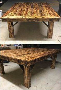 Right into this image, we would bring you out with the lovely pallet table with the wood pallet top resting over it that looks so unique. Grab it now! It has been put together with the dark rustic brown shading effect that is being part of it.