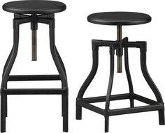Turner Black Barstools  | Crate and Barrel