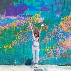 The Best Walls in Los Angeles - Murales Pared Exterior Art Mural, Wall Murals, Wall Art, Magic Room, Best Wall Paint, Graffiti, Street Art, Garden Mural, A Silent Voice