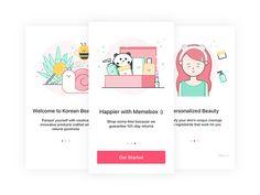 Onboarding Screen - Memebox App by Vy Tat #Design Popular #Dribbble #shots