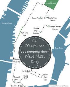 Mit dem MIetwagen quer durch die USA -Teil 2- Der Must-see Spaziergang durch New York City / www.diefernwehfamilie.de