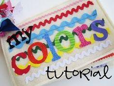 Libro per bambini in tessuto fai da te - lettere in tessuto termo adesivo, acquistabili su Etsy