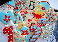 Sweet Cookies for Christmas #december #winter #festival #xmas #dessert #sweet #yum #tasty #delicious #cookie #snowman #snowflake